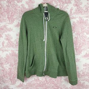 Oakley Hoodie Zip Front Jacket Green Size Large